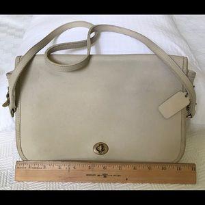 Vintage Ivory Coach Bag